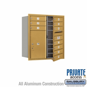 Salsbury 3709D-10GFP 4C Mailboxes 10 Tenant Doors Front Loading