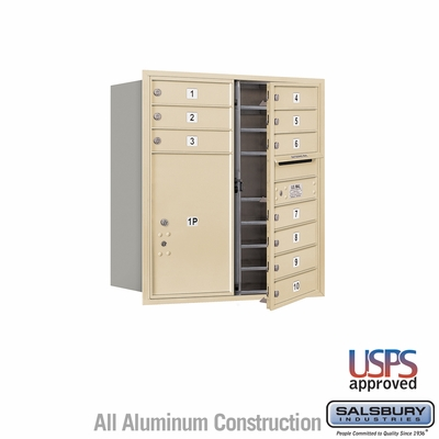 Salsbury 3709D-10SFU 4C Mailboxes 10 Tenant Doors Front Loading