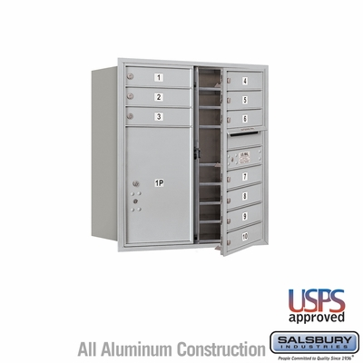 Salsbury 3709D-10AFU 4C Mailboxes 10 Tenant Doors Front Loading