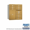 Salsbury 3709D-10GRP 4C Mailboxes 10 Tenant Doors Rear Loading