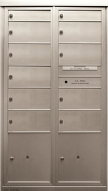 9 Double and 2 Single Height Tenant Doors 2 Parcel Lockers Two Column Front Loading MaxP-D2D9P2 USPS Approved 4C Horizontal Mailboxes