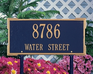 Whitehall Roanoke Standard Two Line Lawn Address Sign