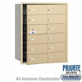 Salsbury 3612SFP 4B Mailboxes 11 Tenant Doors Front Loading - Private Access