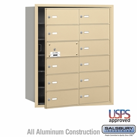 Salsbury 3612SFU 4B Mailboxes 11 Tenant Doors Front Loading - USPS Access