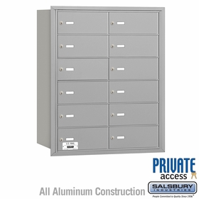 4B Mailboxes 12 Doors - Rear Loading - Private Use