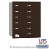 Salsbury 3612ZRU 4B Mailboxes 11 Tenant Doors Rear Loading - USPS Access