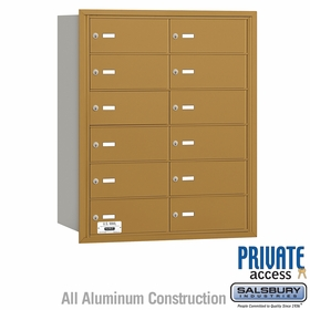 Salsbury 3612GRP 4B Mailboxes 11 Tenant Doors Rear Loading - Private Access