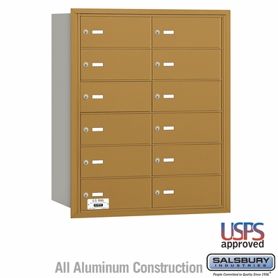 Salsbury 3612GRU 4B Mailboxes 11 Tenant Doors Rear Loading - USPS Access