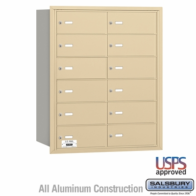 Salsbury 3612SRU 4B Mailboxes 11 Tenant Doors Rear Loading - USPS Access
