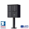 12 Door CBU Mailbox - Black
