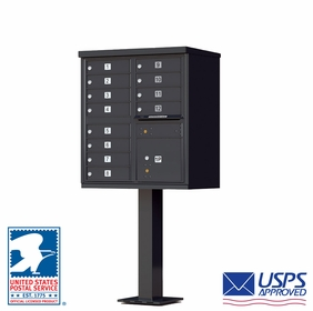 CBU - 12 Tenant Boxes Cluster Mailbox In Black