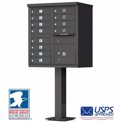 12-Door Cluster Box Unit (CBU) In Dark Bronze