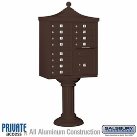 Salsbury 3312R-BRZ-P 12 Door Regency Decorative Cluster Mailbox Bronze - Private Access
