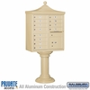 Salsbury 3312R-SAN-P 12 Door Regency Decorative Cluster Mailbox Sandstone - Private Access