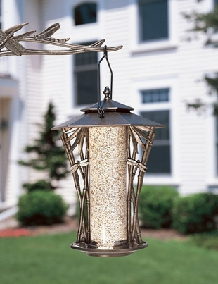 "Whitehall 12"" Dragonfly Silhouette Feeder - French Bronze"