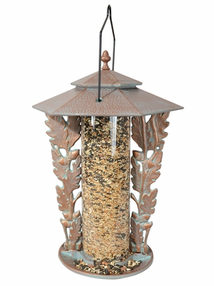 "Whitehall 12"" Oakleaf Silhouette Feeder - Copper Verdi"