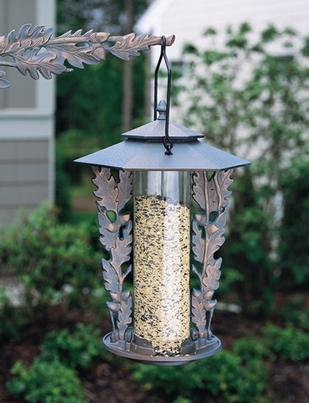 "Whitehall 12"" Oakleaf Silhouette Feeder - French Bronze"