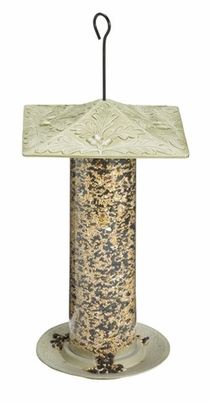 "Whitehall 12"" Oakleaf Tube Feeder - French Bronze"