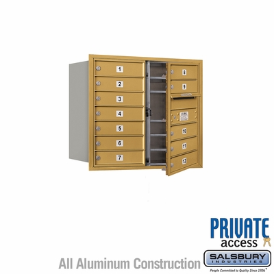 Salsbury 3707D-12GFP 4C Mailboxes 12 Tenant Doors Front Loading