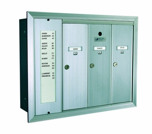 1255 Series Vertical Mailbox 3 Tenants 1 Integral Directory