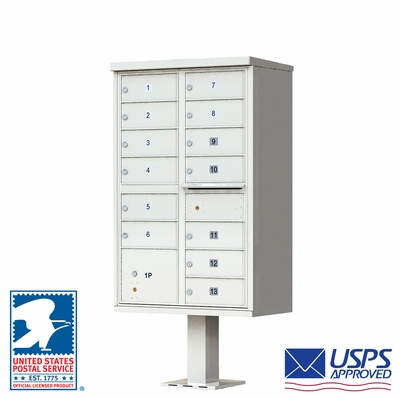 13 Door CBU Mailbox - Gray