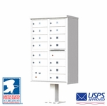 13 Door CBU Mailbox - White (Other Colors Available)