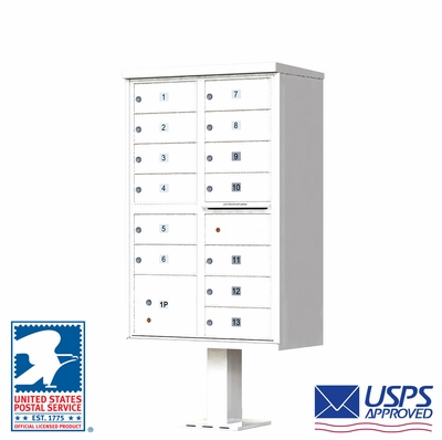 CBU - 13 Tenant Boxes Cluster Mailbox In White