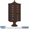 Salsbury 3313R-BRZ-P 13 Door Regency Decorative Cluster Mailbox Bronze - Private Access