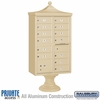 Salsbury 3313R-SAN-P 13 Door Regency Decorative Cluster Mailbox Sandstone - Private Access