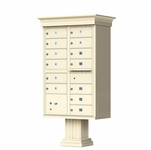 Classic Decorative CBU Mailboxes - 13 Doors 1 Parcel Unit