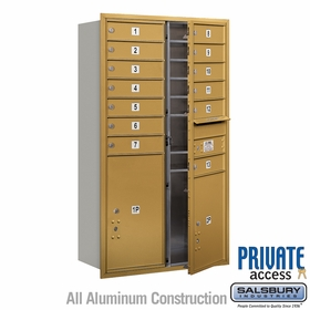 Salsbury 3713D-13GFP 4C Mailboxes 13 Tenant Doors Front Loading