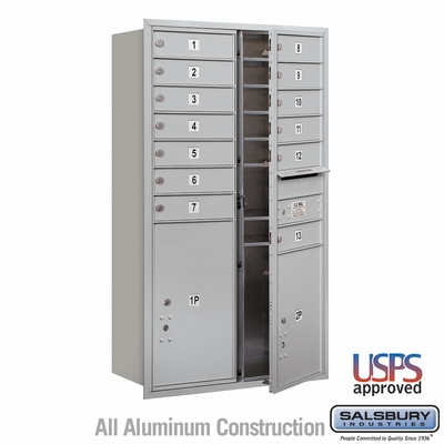 Salsbury 3713D-13AFU 4C Mailboxes 13 Tenant Doors Front Loading