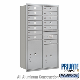 Salsbury 3713D-13ARP 4C Mailboxes 13 Tenant Doors Rear Loading
