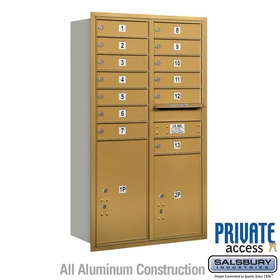 Salsbury 3713D-13GRP 4C Mailboxes 13 Tenant Doors Rear Loading