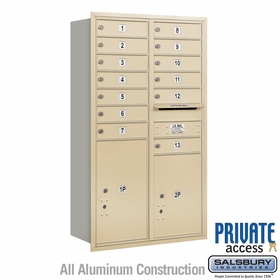 Salsbury 3713D-13SRP 4C Mailboxes 13 Tenant Doors Rear Loading