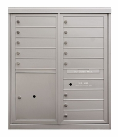 10-Door High Front Loading Anodized 4C Mailboxes (40 - 1/4 in. High)