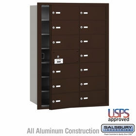 Salsbury 3614ZFU 4B Mailboxes 13 Tenant Doors Front Loading - USPS Access