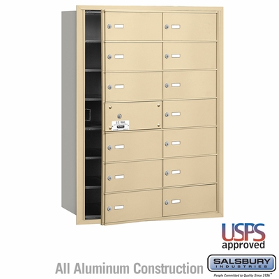 Salsbury 3614SFU 4B Mailboxes 13 Tenant Doors Front Loading - USPS Access