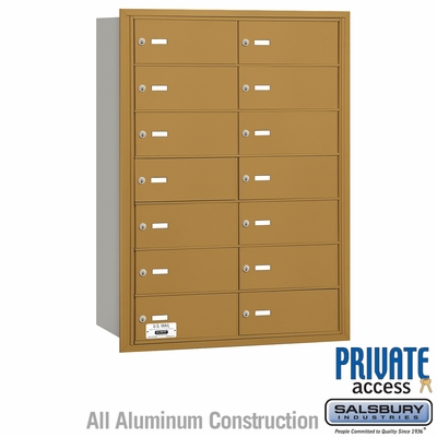 Salsbury 3614GRP 4B Mailboxes 13 Tenant Doors Rear Loading - Private Access