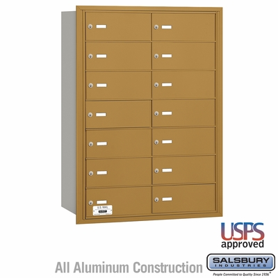 Salsbury 3614GRU 4B Mailboxes 13 Tenant Doors Rear Loading - USPS Access