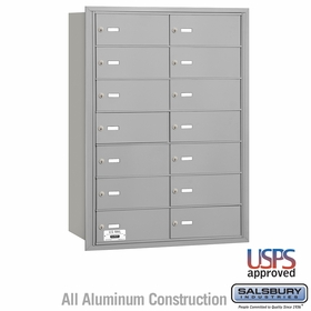 Salsbury 3614ARU 4B Mailboxes 13 Tenant Doors Rear Loading - USPS Access