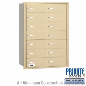 Salsbury 3614SRP 4B Mailboxes 13 Tenant Doors Rear Loading - Private Access