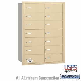 Salsbury 3614SRU 4B Mailboxes 13 Tenant Doors Rear Loading - USPS Access