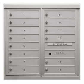 8-Door High ADA Compliant Anodized 4C Mailboxes (33 - 3/8 in. High)