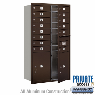 Salsbury 3713D-14ZFP 4C Mailboxes 14 Tenant Doors Front Loading