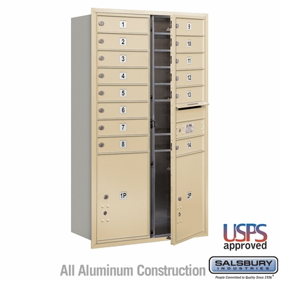 Salsbury 3713D-14SFU 4C Mailboxes 14 Tenant Doors Front Loading