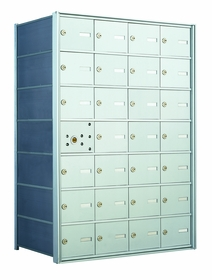 1400 Series Front Loading Horizontal Mailbox with Master Access Door and 27 Compartments