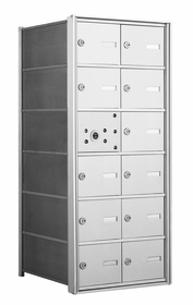 1400 Series Front-Loading Horizontal Mailboxes - 11 Tenant Doors