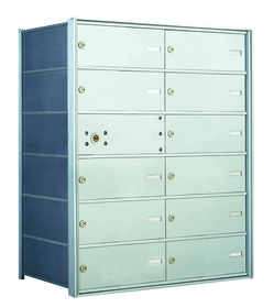 1400 Series Front-Loading Horizontal Mailboxes - 11 double wide doors