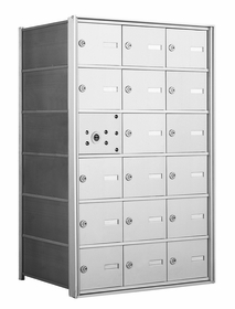 1400 Series Front-Loading Horizontal Mailboxes - 17 Tenant Doors And 1 USPS Master Door